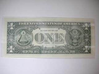 UTADAが加工された1ドル札_裏