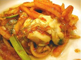 牡蠣のキムチ