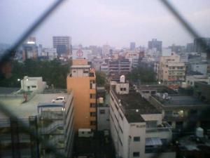 ホテルの窓から