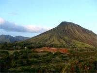 オアフの山景