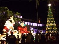 市庁舎前のクリスマスイルミネーション
