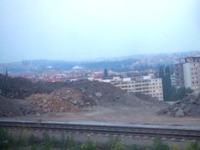 プラハが近づいての車窓からの眺め