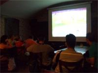 レストランでオランダ—コートジボワール戦を観戦