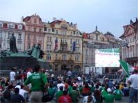 プラハ旧市街広場のパブリックビューイング