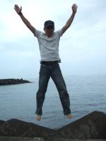 テトラポッドの上でジャンプ!