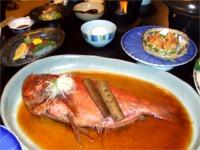 大きな金目鯛の姿煮