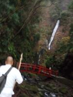 洒水の滝が見えてきました