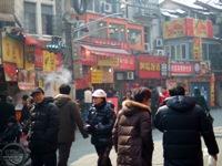 呉江路の小吃街