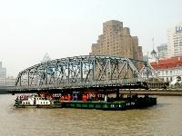撤去される外白渡橋(ガーデンブリッジ)