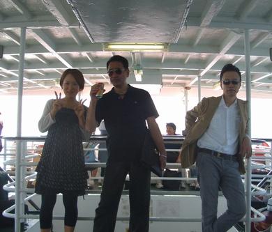 帰りの連絡船でたまたま一緒だった桜田先生と!ちと怖い