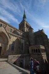 モンサンミッシェルの修道院内の上の方/尖塔