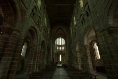 モンサンミッシェルの教会聖堂内部