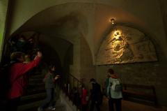 モンサンミッシェルの聖堂起源のレリーフ見学