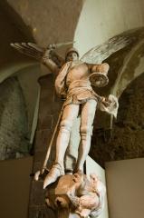 モンサンミッシェルのミカエル石像