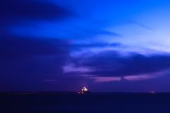 モンサンミッシェルの夜景「天の言葉」