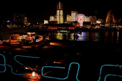 横浜/大桟橋埠頭、全観点灯、夜のデートスポット、クリスマスプレゼント