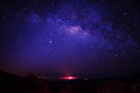 共鳴、ハワイ島、溶岩、天の川