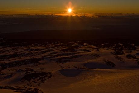 ハワイ島、マウナケア山、聖光