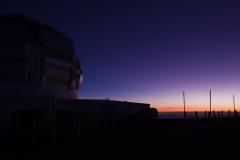 ハワイ島、マウナケア山、夜明け