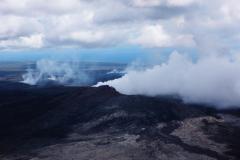 ハワイ島空撮、今も火山は噴火している、キラウェア火山