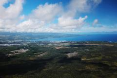 ハワイ島空撮、ヒロの美しい入り江