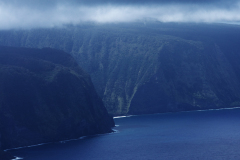 ハワイ島空撮、ワイピオ渓谷、楽園の扉