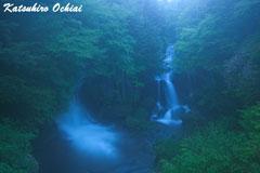 幻想のかなで、奥日光、竜頭の滝、雨の撮影、落合勝博