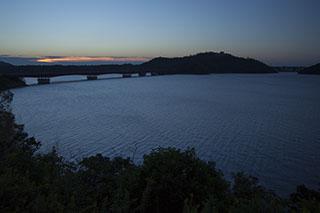 静岡県、浜名湖、浜名湖SA、浜名湖橋、夜明け、景色