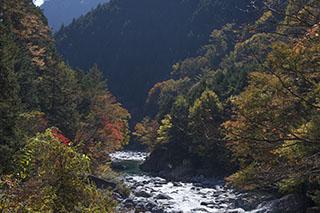 南木曽、長野県、阿寺渓谷、紅葉時期