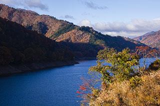 福井県大野市・九頭竜湖、紅葉、2012年