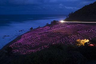 石川県輪島市・白米千枚田、能登半島、太陽光発電LED、約2万個であぜ道を彩るイベント「あぜのきらめき」、ギネス世界記録に認定、日本海
