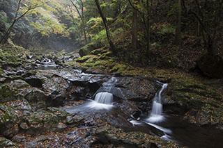 三重県名張市、赤目四十八滝、2012年、紅葉、姉妹滝