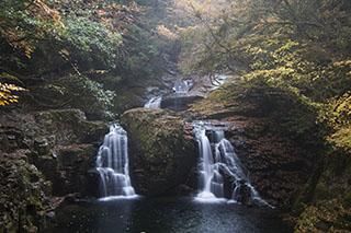 三重県名張市、赤目四十八滝、2012年、紅葉、荷担滝
