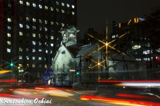 札幌、時計台、夜景