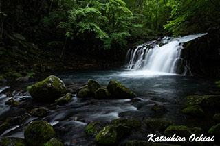 長野県、蓼科大滝、渓流、落合勝博