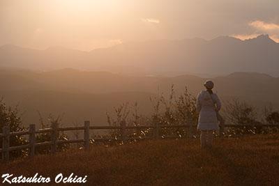 長崎県対馬市、上見坂公園、夕景、観光スポット、写真スポット