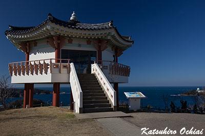 長崎県対馬市、韓国展望所、釜山、昼間