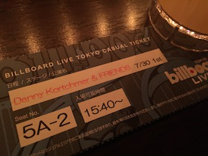 Danny Koprchmar & Friends @ Billboard Live Tokyo