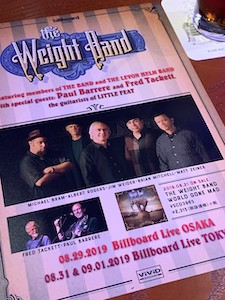 The Weight Band @ Billboard Live Tokyo