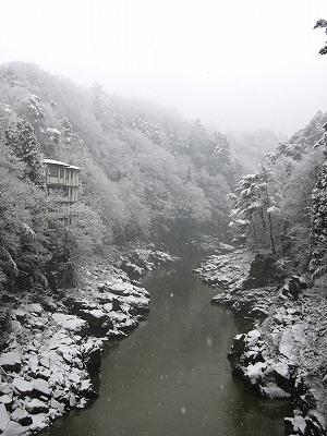 天龍峡雪景色1