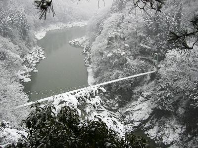 天龍峡雪景色2