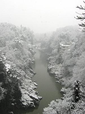 天龍峡雪景色3