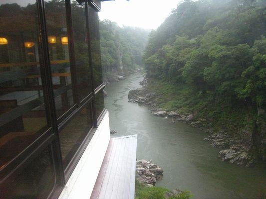 雨の天龍峡
