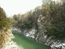 天龍峡 雪