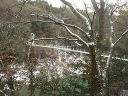 天龍峡 雪2