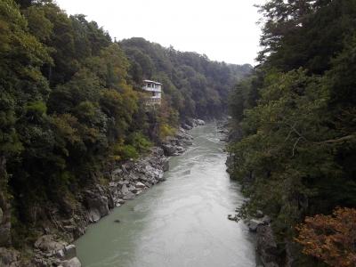 姑射橋から峡谷