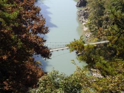 吊り橋を望む