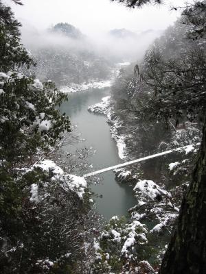 2012つつじ橋雪景色