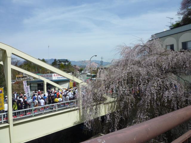 マラソン姑射橋の上