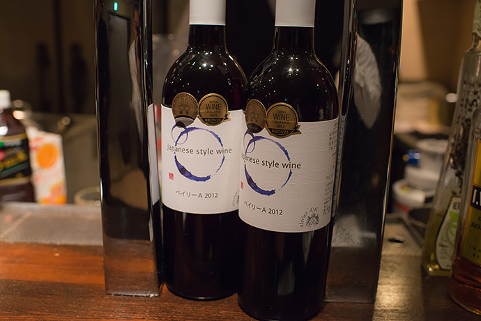 Japanese style wine ベイリーA 2012